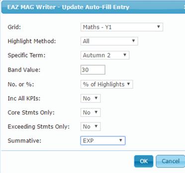 Auto-Fill Options